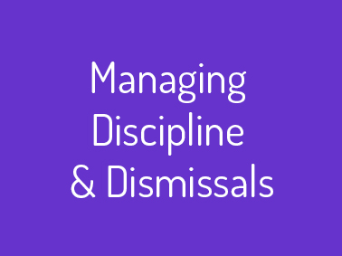 managing discipline training