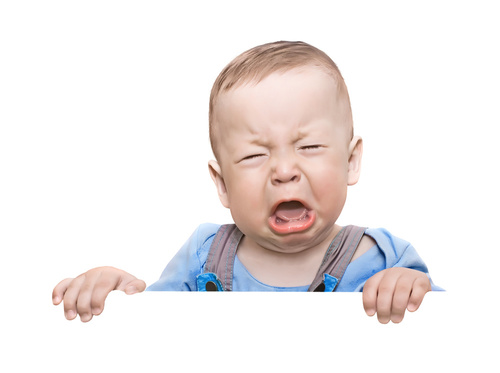 Difficult people in the work place making your life a misery: A baby crying