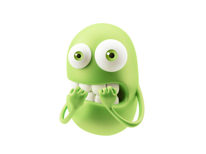 Islamaphobia and Bathmaphobia, but should it be Metathesiophobia: A cartoon green monster who looks nervous