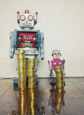 concept inequality robots: gender pay gap reporting